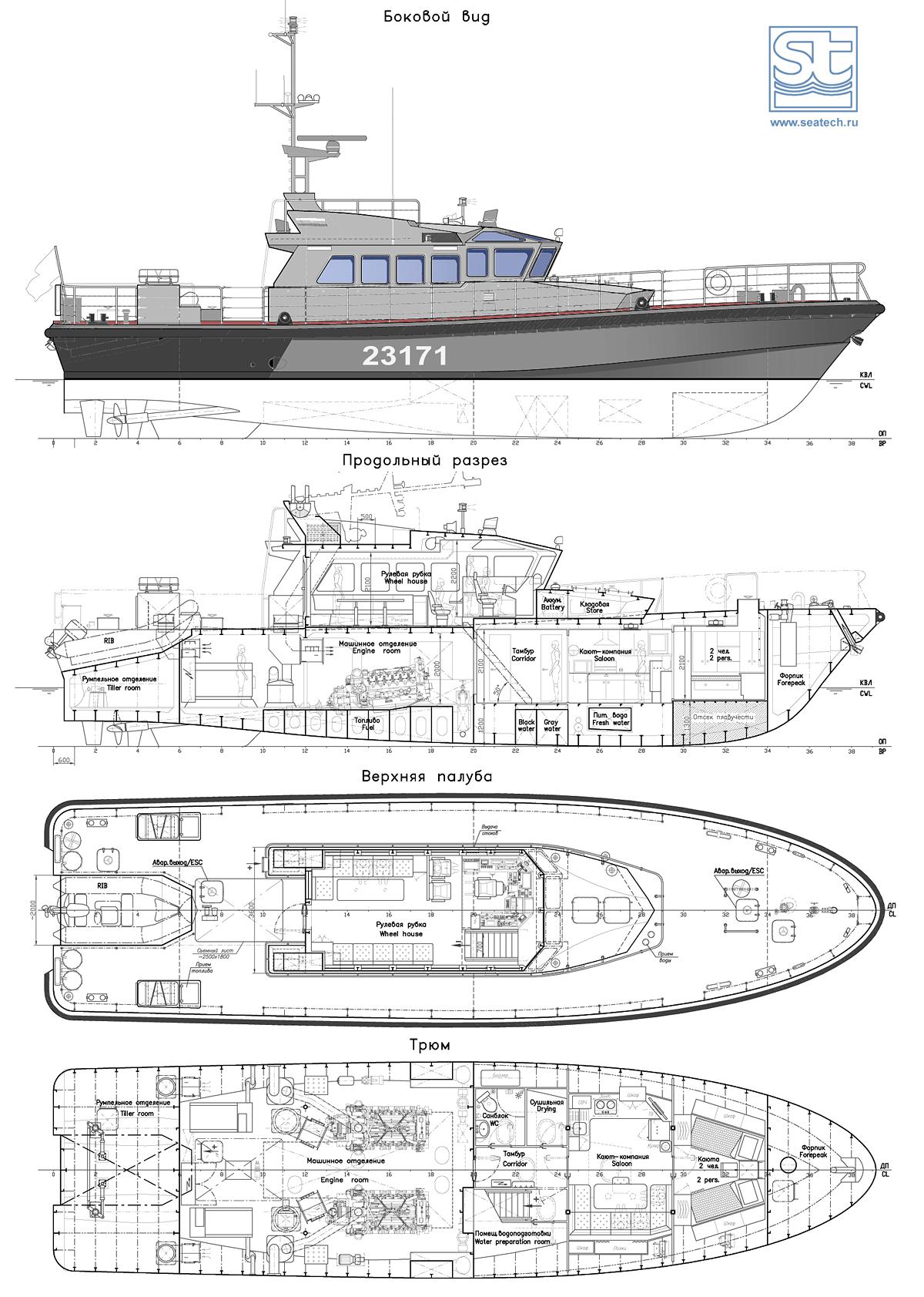Patrol Boat 24 M  Seatech Ltd