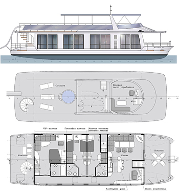 Houseboat - catamaran