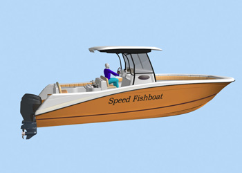High-speed boat FISHER-31