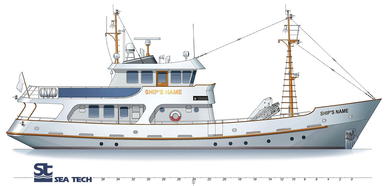 Trawler yacht st2807m seatech ltd for Garden design trawler boat