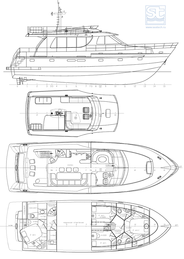 Yacht Part Diagram