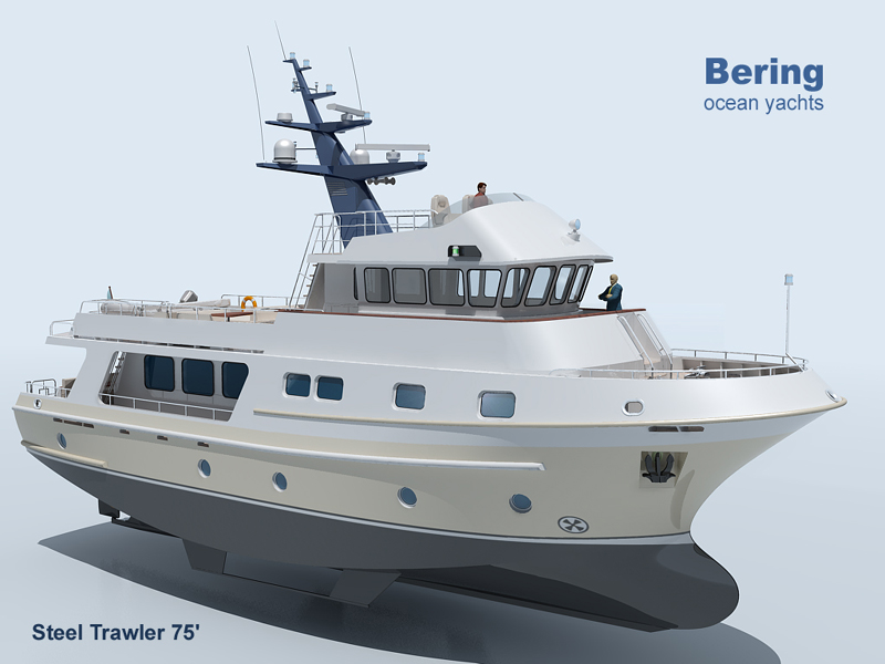 Motor Yacht Smt70 Expedition Trawler Yacht Seatech Ltd